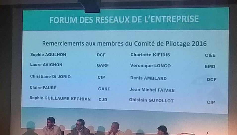 """Participation au Forum des Réseaux, Marseille 2016 """"Construisons l'Entreprise Idéale"""""""
